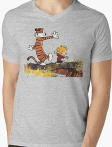 Calvin And Hobbes Mens V-Neck T-Shirt