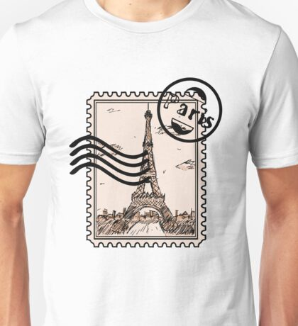 Paris Stamp Unisex T-Shirt