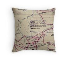 190 Map of the Loup-Piney Divide coal lands in Fayette and Raleigh cos West Virginia 1 Throw Pillow