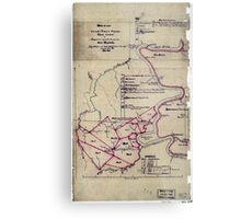 190 Map of the Loup-Piney Divide coal lands in Fayette and Raleigh cos West Virginia 1 Metal Print