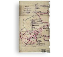 190 Map of the Loup-Piney Divide coal lands in Fayette and Raleigh cos West Virginia 1 Canvas Print