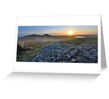 Cornwall: Sunset at Roughtor Greeting Card