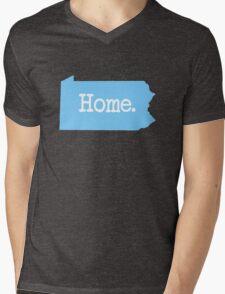 Pennsylvania Home PA Blue Mens V-Neck T-Shirt