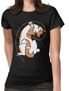 Fibonacci Cat - The Golden Ratio Womens Fitted T-Shirt