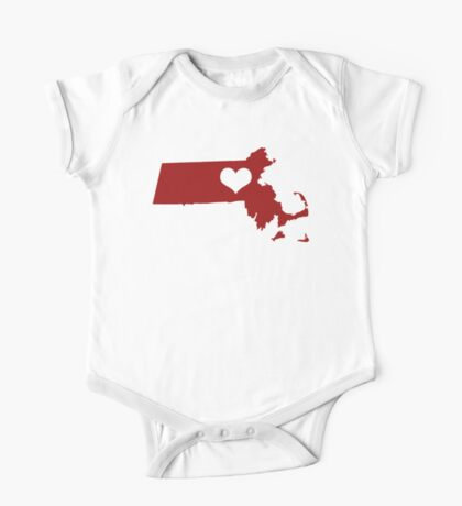 I Left My Heart in Massachusetts - Red One Piece - Short Sleeve