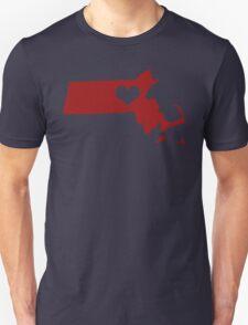 I Left My Heart in Massachusetts - Red Unisex T-Shirt