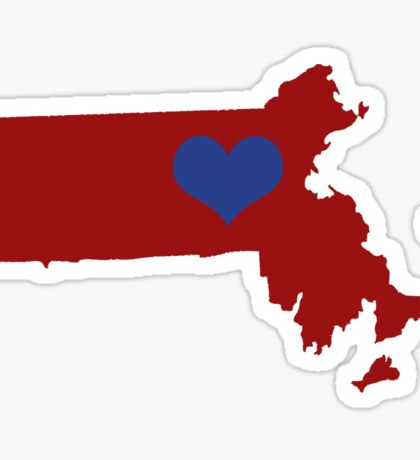 I Left My Heart in Massachusetts - Red Sticker