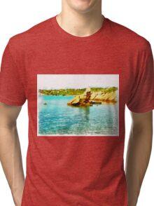 Island Caprera: sea landscape and rock Tri-blend T-Shirt