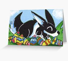 Easter Egg Bunny Greeting Card