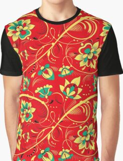 Slavic Pattern, red background #1 Graphic T-Shirt