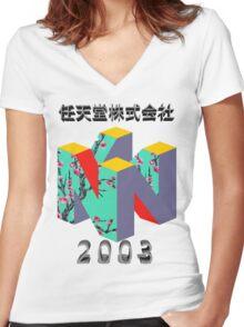nintendo 2003 Women's Fitted V-Neck T-Shirt