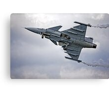 Swedish Air Force Saab JAS 39C Gripen  Canvas Print