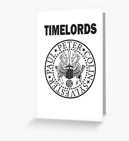 Time Lords 2 Greeting Card
