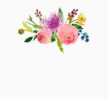Floral Watercolor, Grapefruit Renunculus Unisex T-Shirt