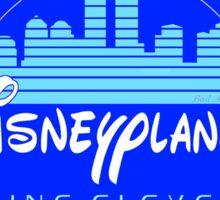 """DI$NEYPLANNED"" Blue Logo v.1   (white & light tees)  Sticker"
