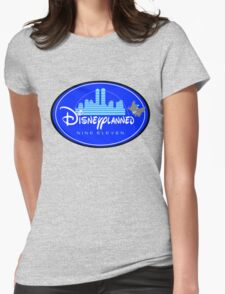 """DI$NEYPLANNED"" Blue Logo v.1   (white & light tees)  Womens Fitted T-Shirt"