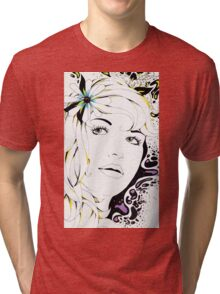 Girl In Graphic Tri-blend T-Shirt