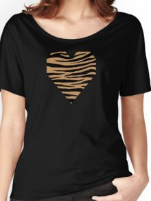 0437 Brown-Nose, Flattery or Kobicha Tiger Women's Relaxed Fit T-Shirt