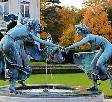 Dancing Nymphs - Castle Den Brandt - Belgium by Gilberte
