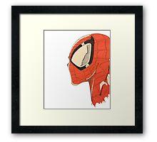 Spiderman's Profile Framed Print