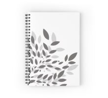 Leaves gray Spiral Notebook