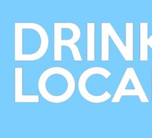 Indiana Drink Local IN Blue Sticker