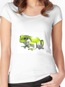 Froggy went a' courting! Women's Fitted Scoop T-Shirt