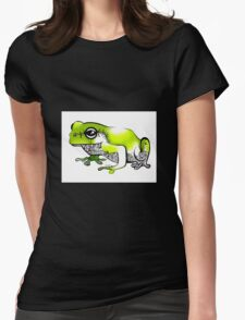 Froggy went a' courting! Womens Fitted T-Shirt
