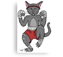 Meow Thai Fighter Canvas Print