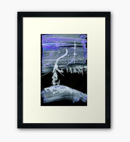 0039 - Brush and Ink - Lamp Lighting Framed Print