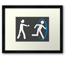 In Case of Zombies Use Portals Framed Print