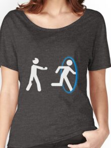 In Case of Zombies Use Portals Women's Relaxed Fit T-Shirt