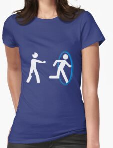 In Case of Zombies Use Portals Womens Fitted T-Shirt