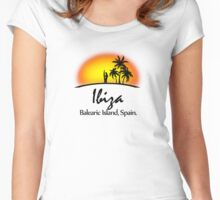 Ibiza, Balearic Island Women's Fitted Scoop T-Shirt