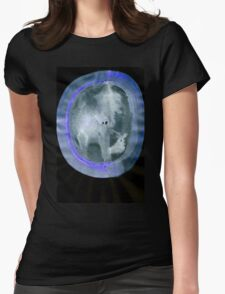 0034 - Brush and Ink - Circular Compression Womens Fitted T-Shirt