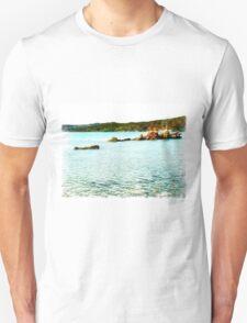 Island Caprera: sea landscape and rock Unisex T-Shirt