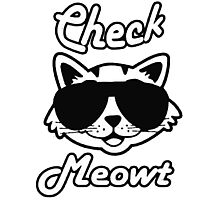 Check Meowt Photographic Print