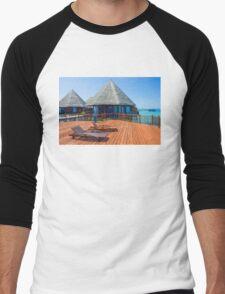 Postcard from the Maldives Men's Baseball ¾ T-Shirt