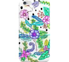 Bright floral watercolor modern polka dots iPhone Case/Skin