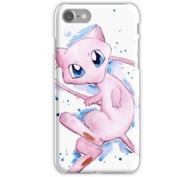 Watercolor Pokemon - Mew #151 iPhone Case/Skin