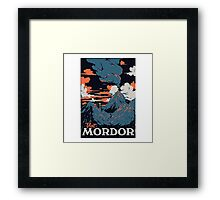 visit mordor t shirt Framed Print