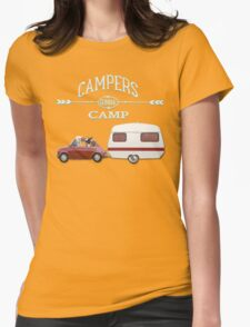 LET`S GO WINTER CAMPING by Monika Strigel Womens Fitted T-Shirt