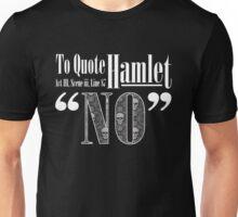 """""""No."""" - White Unisex T-Shirt"""