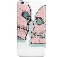 Skull Kiss Pink iPhone Case/Skin