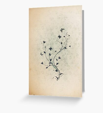 Floral vintage [mixed] Greeting Card