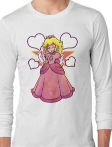 Hearts and Princess Peach Long Sleeve T-Shirt