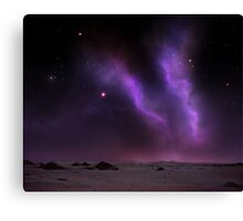 Night on the desert Canvas Print