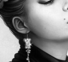 Vintage Portrait - Black and White Sticker