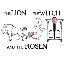 The Lion, The Witch and The Rosen Photographic Print