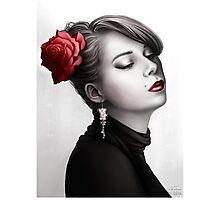 Vintage Portrait - Pop of Color Photographic Print
